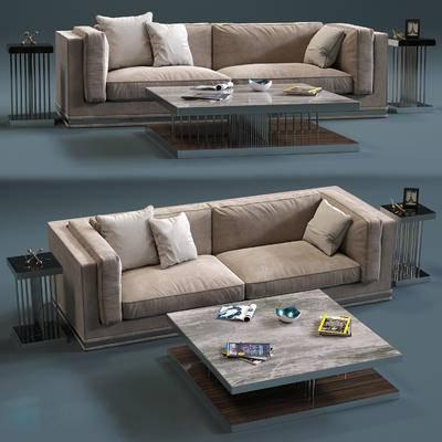 布艺, 沙发, 茶几, 摆件, 双人沙发, 沙发组合, 沙发茶几组合, 现代