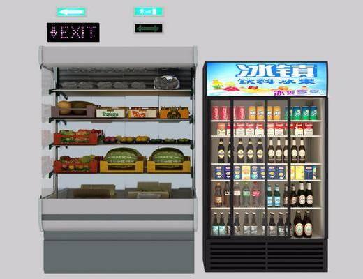 超市货架, 陈设品, 装饰品, 现代
