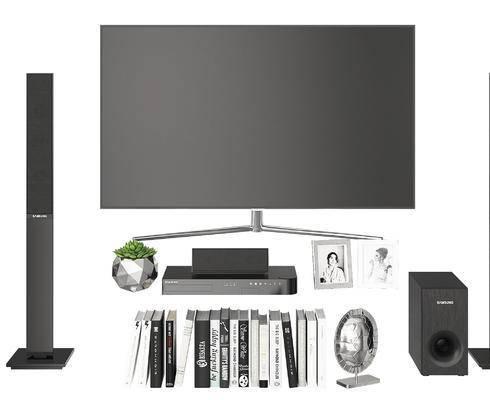 现代, 电视机, 影响, 陈设品, 摆件, 电器