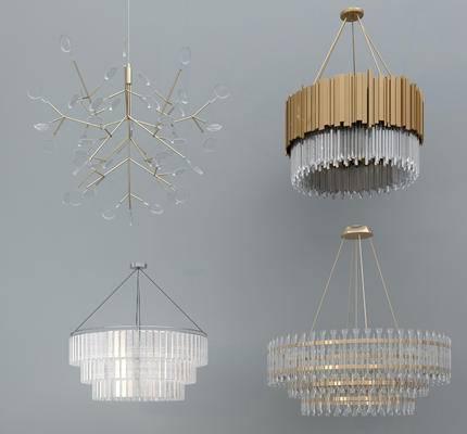 吊灯, 灯具, 灯, 现代, 后现代, 水晶吊灯, 金属吊灯
