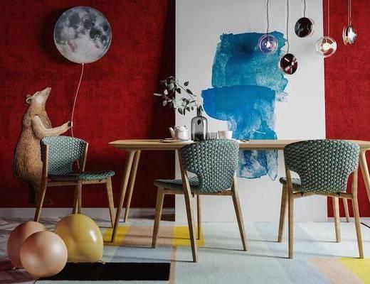 北欧餐厅, 餐厅, 餐桌椅