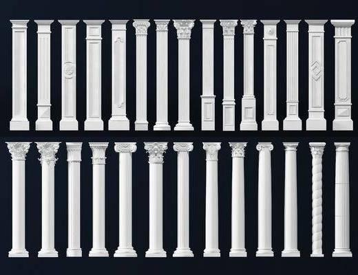 柱子, 罗马柱, 欧式罗马柱, 欧式