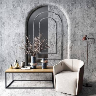 现代单椅, 现代椅子, 现代休闲椅