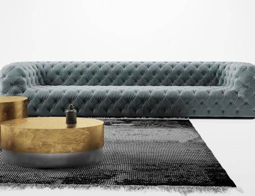 沙发组合, 多人沙发, 茶几