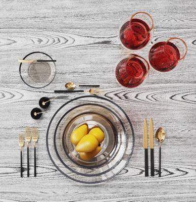 现代, 餐桌, 组合
