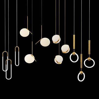 铁艺吊灯, 吊灯组合, 现代