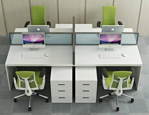 桌椅组合, 现代办公桌椅组合, 办公桌