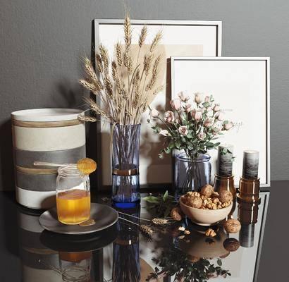 花卉, 烛台, 摆件组合