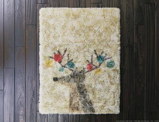 地毯, 方形地毯, 小鹿图案, 现代