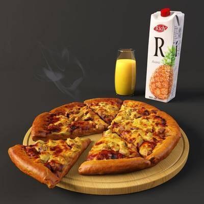 披萨, 饮料, 食品