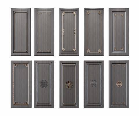 柜门, 门板, 新中式门板, 新中式