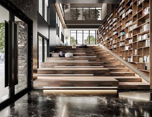 现代, 图书馆, 工装