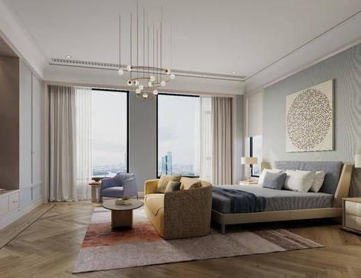 臥室, 床具組合, 沙發組合, 北歐