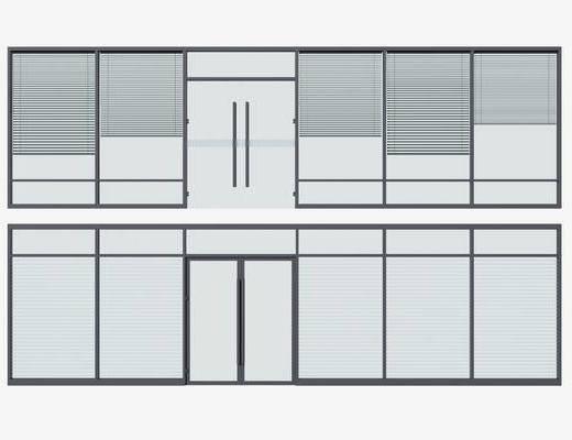 玻璃, 隔断, 办公区, 铝合金隔断