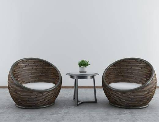 户外椅, 单椅, 茶几, 桌椅组合