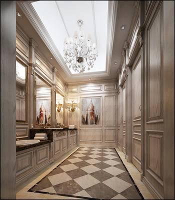 欧式, 古典, 卫生间