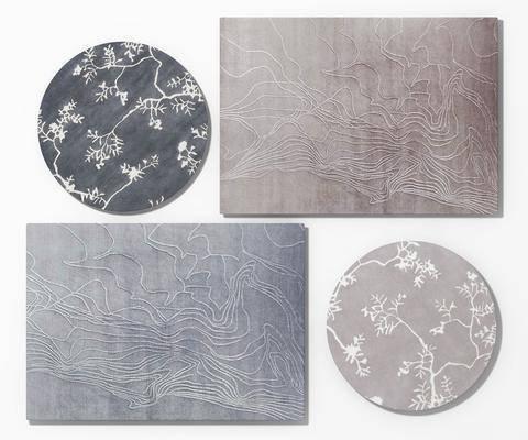 地毯组合, 造型地毯, 新中式