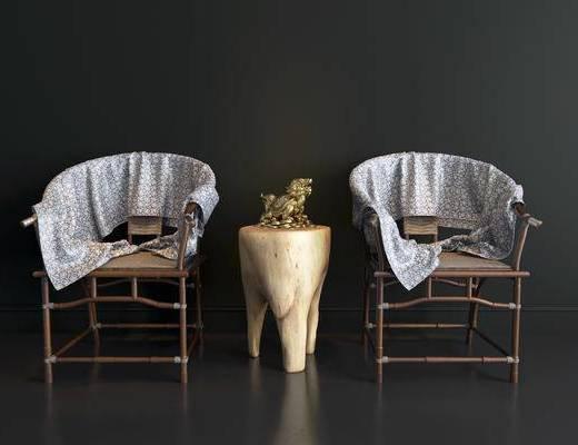 龙龟摆件, 单椅, 扶手椅