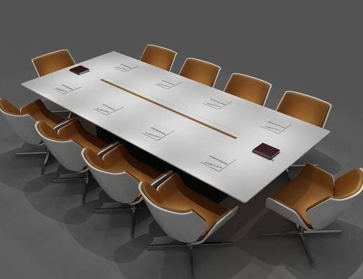 会议桌组合, 桌椅组合, 现代