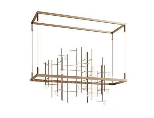 现代简约, 金属吊灯, 现代吊灯