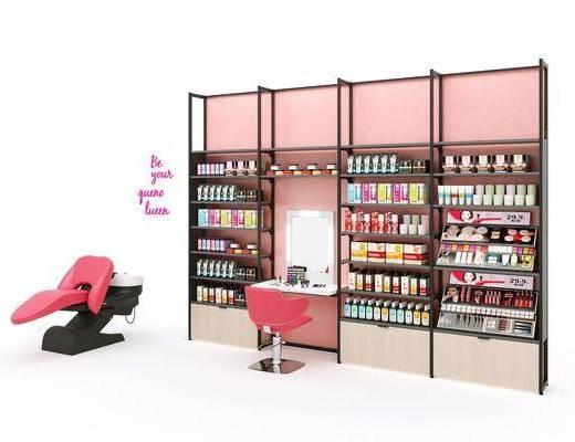 化妆品店, 美妆店, 化妆品货架