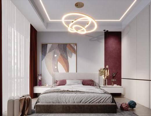 现代简约轻奢卧室