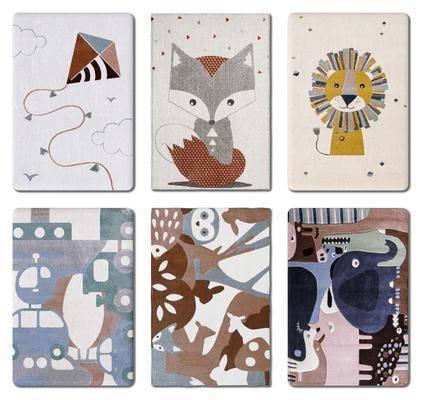 现代, 地毯, 组合