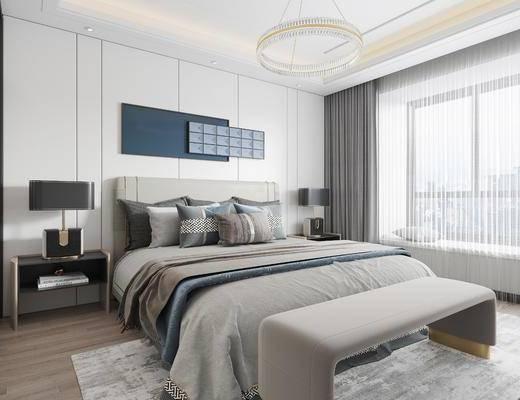 卧室, 现代, 家装