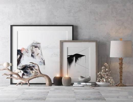 现代简约, 装饰品组合, 陈设品组合