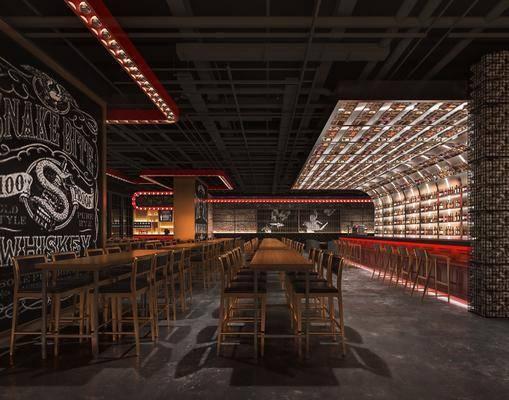 现代酒吧, 吧台