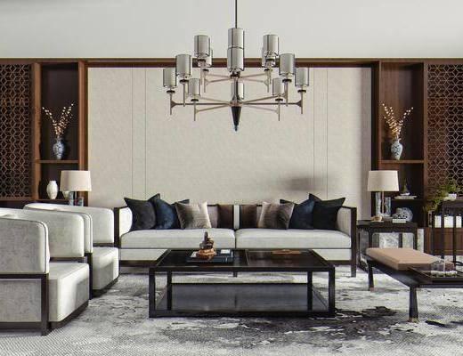 单人椅, 矮凳, 茶几, 边几, 台灯, 饰品摆件, 吊灯