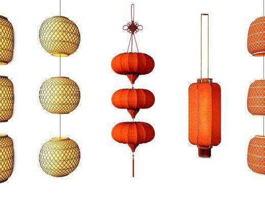 灯笼组合, 中式