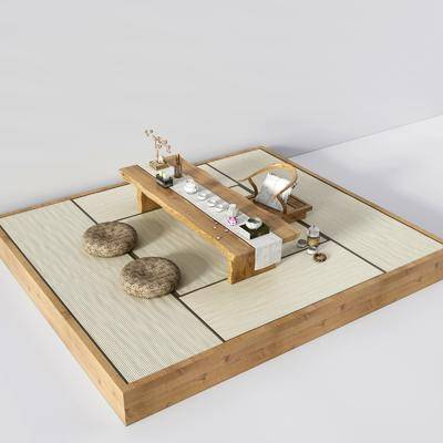 榻榻米, 新中式榻榻米, 茶具, 擺件, 裝飾品, 新中式