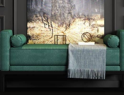 搭巾, 掛畫, 飾品組合, 沙發腳踏