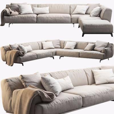 多人沙发, 布艺沙发, 转角沙发, 现代