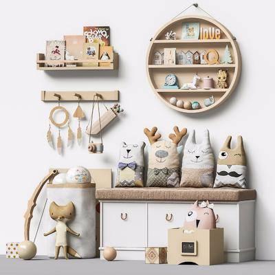 现代, 儿童房, 家装