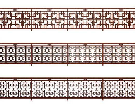 护栏组合, 栏杆组合, 中式