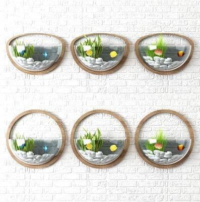 壁饰鱼缸, 墙饰, 墙面鱼缸
