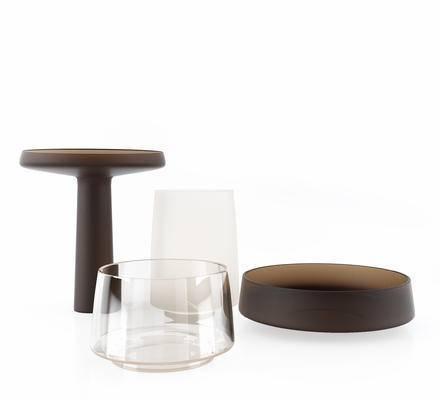 现代饰品摆件, 器皿, 玻璃杯餐具