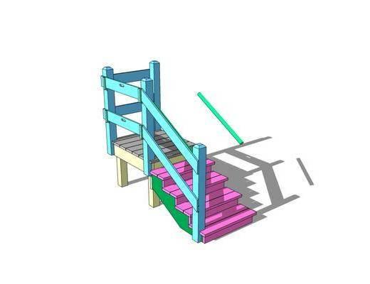 护栏, 楼梯