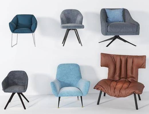 现代, 单椅, 单人沙发