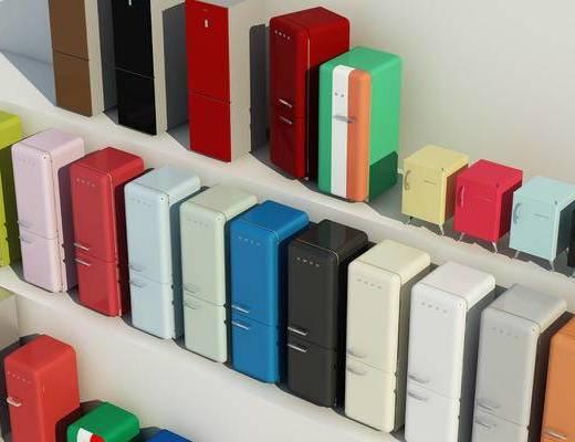 彩色冰箱, 冰箱冰柜, 现代