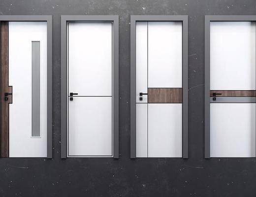 房门, 平开门, 现代