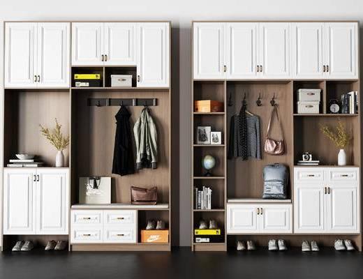 衣服, 鞋子, 盒子, 书包, 植物, 闹钟, 柜子, 柜门