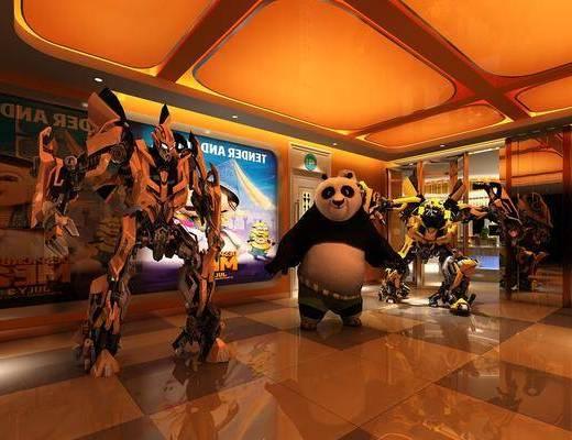 汽车, 机器人, 功夫熊猫, 变形金刚, 玩具, 现代