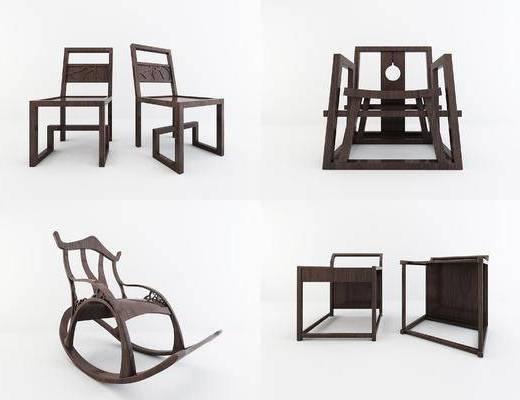中式椅子, 摇椅
