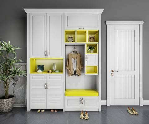 鞋柜, 衣柜, 现代, 柜, 装饰柜