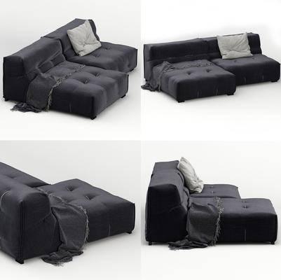 组合沙发, 沙发, 单人沙发, 布艺, 现代