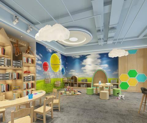现代, 幼儿园, 教室