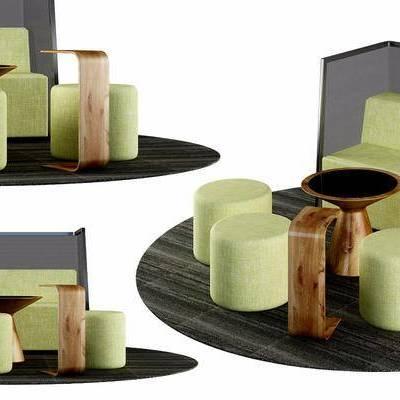休闲椅, 凳子, 桌子, 边几, 现代